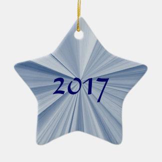 Ornement 2017 de souvenir d'étoile bleue de Noël
