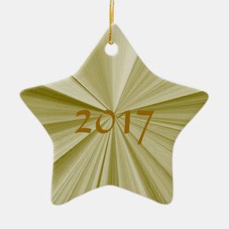Ornement 2017 de souvenir d'or d'étoile de Noël