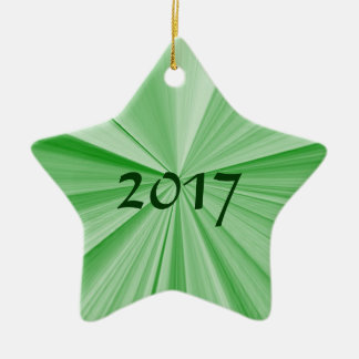 Ornement 2017 de vert d'étoile de Noël par Janz