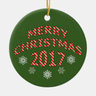 Ornement 2017 d'équilibre d'arbre de Joyeux Noël