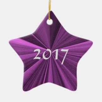 Ornement 2017 magenta d'étoile de Noël par Janz