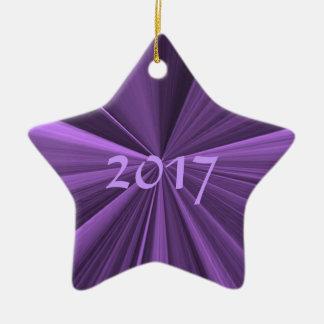 Ornement 2017 pourpre d'étoile de Noël par Janz