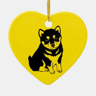 Ornement 2018 arrière de chien de Shiba Inu des