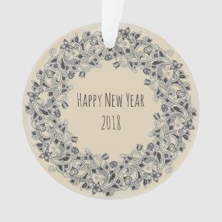 Ornement 2018 de guirlande-conception de bonne