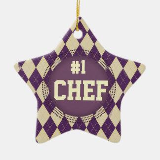 Ornement à motifs de losanges de Noël du chef #1