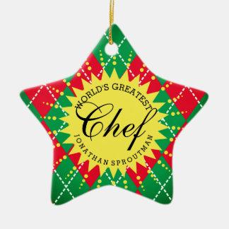 Ornement à motifs de losanges de Noël du plus
