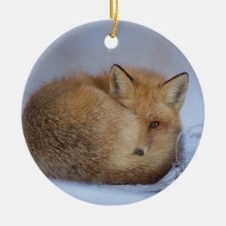 ornement accrochant de renard, décor rusé