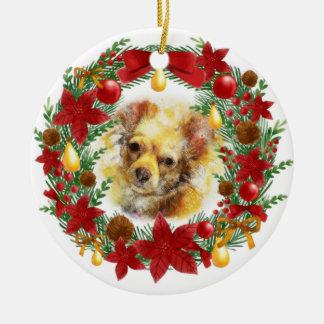 Ornement adorable de Noël de chien