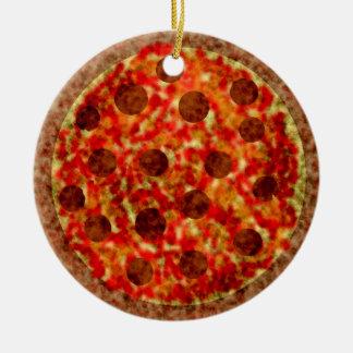Ornement américain italien drôle de Noël de pizza