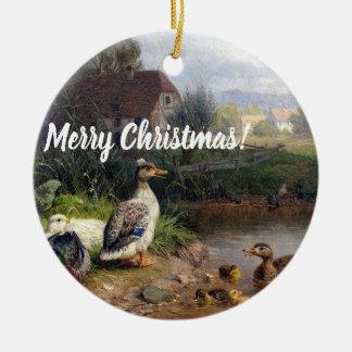 Ornement animal de Noël d'étang d'oiseaux de