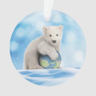 Ornement arctique du monde d'ours blanc