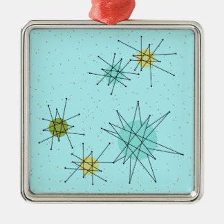 Ornement atomique bleu de Noël de Starbursts des