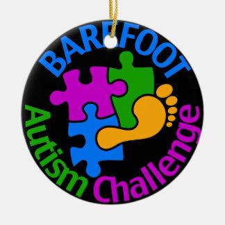 Ornement aux pieds nus de défi d'autisme