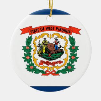 Ornement avec le drapeau de la Virginie