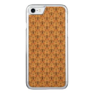 Ornement aztèque tribal ethnique vintage coque iphone 7 en bois