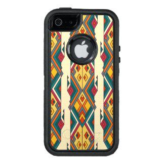 Ornement aztèque tribal ethnique vintage coque OtterBox iPhone 5, 5s et SE