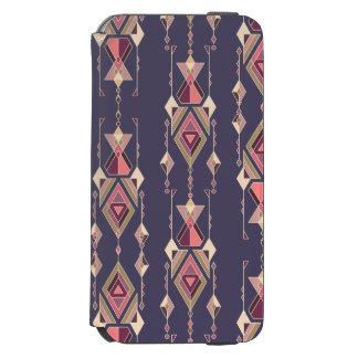 Ornement aztèque tribal ethnique vintage coque-portefeuille iPhone 6 incipio watson™
