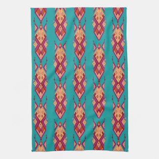 Ornement aztèque tribal ethnique vintage serviettes éponge