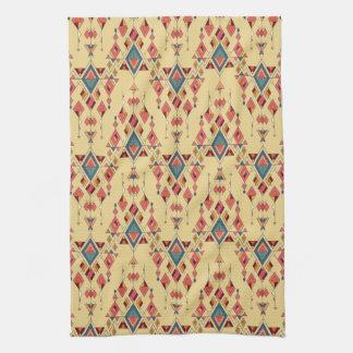 Ornement aztèque tribal ethnique vintage serviettes pour les mains