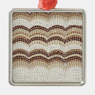 Ornement beige de carré de prime de mosaïque