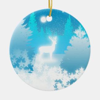 Ornement blanc de Noël de mâle