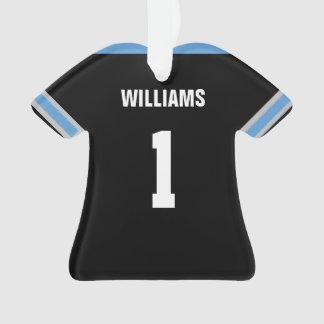 Ornement bleu-clair et noir du football du Jersey