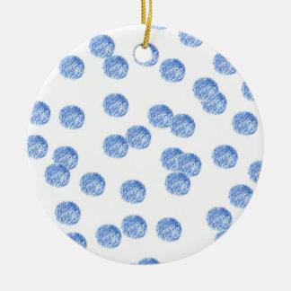 Ornement bleu de cercle de pois