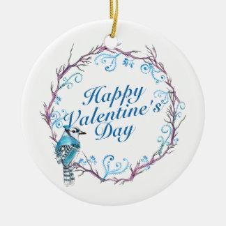 Ornement bleu de guirlande de Saint-Valentin