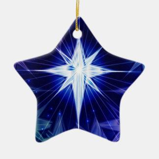 Ornement bleu d'étoile de Noël