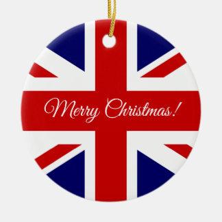 Ornement britannique d'arbre de Noël de drapeau