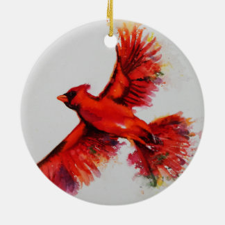Ornement cardinal rouge