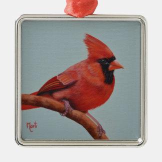 Ornement cardinal rouge de Noël d'oiseau