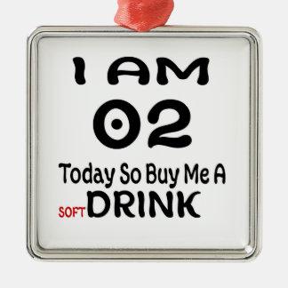Ornement Carré Argenté 02 achetez-aujourd'hui ainsi moi une boisson