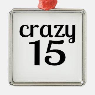 Ornement Carré Argenté 15 conceptions folles d'anniversaire