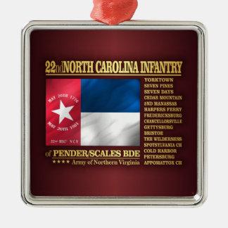Ornement Carré Argenté 22ème Infanterie de la Caroline du Nord (BA2)