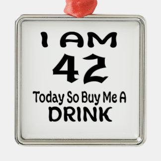 Ornement Carré Argenté 42 achetez-aujourd'hui ainsi moi une boisson