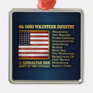 Ornement Carré Argenté 4ème Infanterie volontaire de l'Ohio (BH)