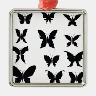Ornement Carré Argenté 51Butterflies