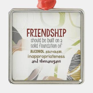 Ornement Carré Argenté 810.friendship-shenanigans