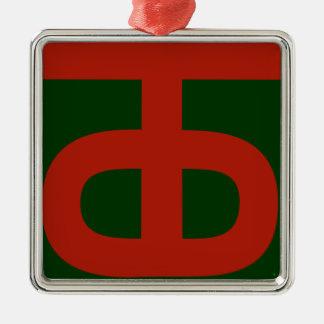 Ornement Carré Argenté 90th Infantry Division