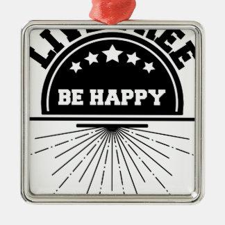 Ornement Carré Argenté Abeille libre vivante heureuse