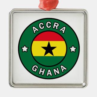 Ornement Carré Argenté Accra Ghana
