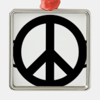Ornement Carré Argenté Ailes de paix