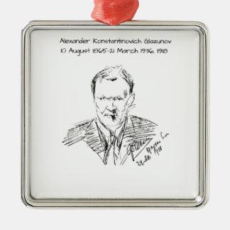 Ornement Carré Argenté Alexandre Konstamtinovich Glazunov 1918