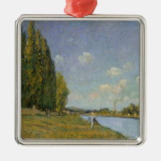 Ornement Carré Argenté Alfred Sisley | la Seine chez Billancourt