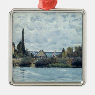 Ornement Carré Argenté Alfred Sisley | la Seine chez Bougival