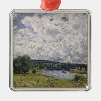 Ornement Carré Argenté Alfred Sisley | la Seine chez Suresnes
