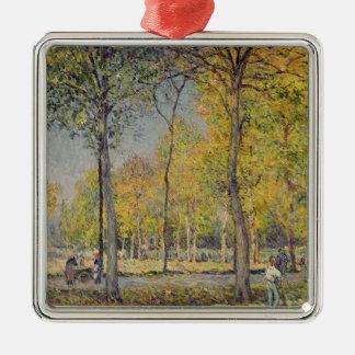 Ornement Carré Argenté Alfred Sisley   le Bois de Boulogne