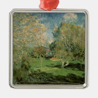 Ornement Carré Argenté Alfred Sisley   le jardin de la famille de
