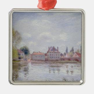 Ornement Carré Argenté Alfred Sisley | le pont au Moret-sur-Loing